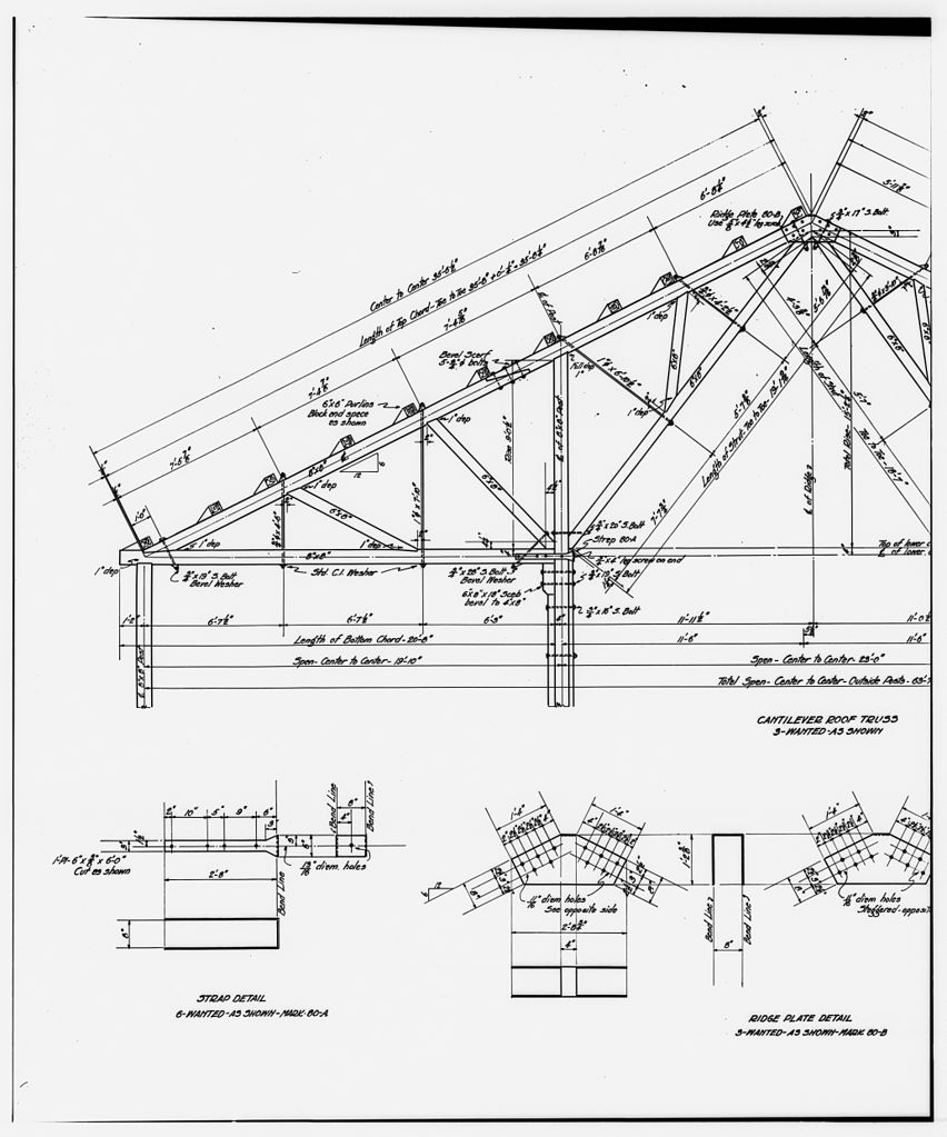 852x1023 File52. Photocopy Of Drawing Ammonia Leaching Plant Roof Truss