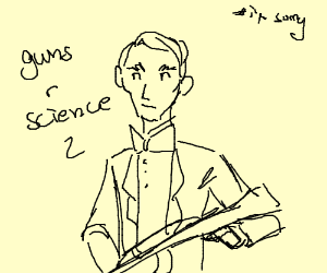 300x250 Bill Nye With An Ak 47 (Drawing By Thegirlwiththefussel)