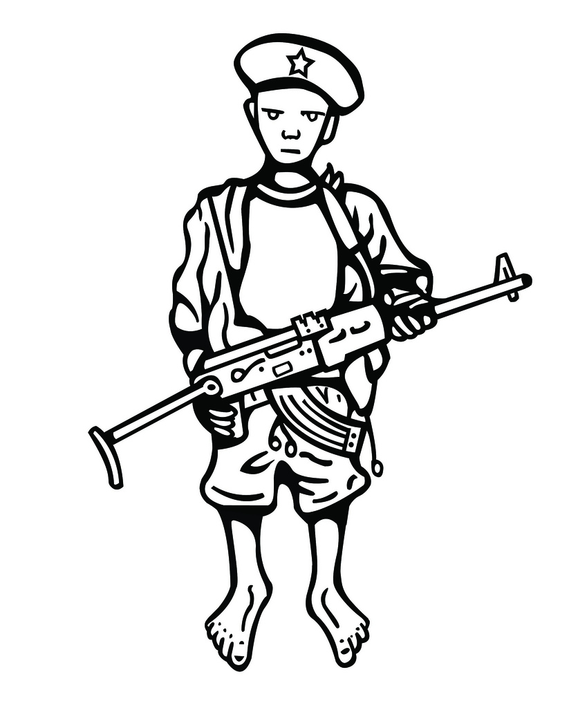 836x1024 Child Soldier Illustration Of African Child