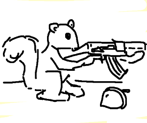300x250 Squirrel With Ak 47