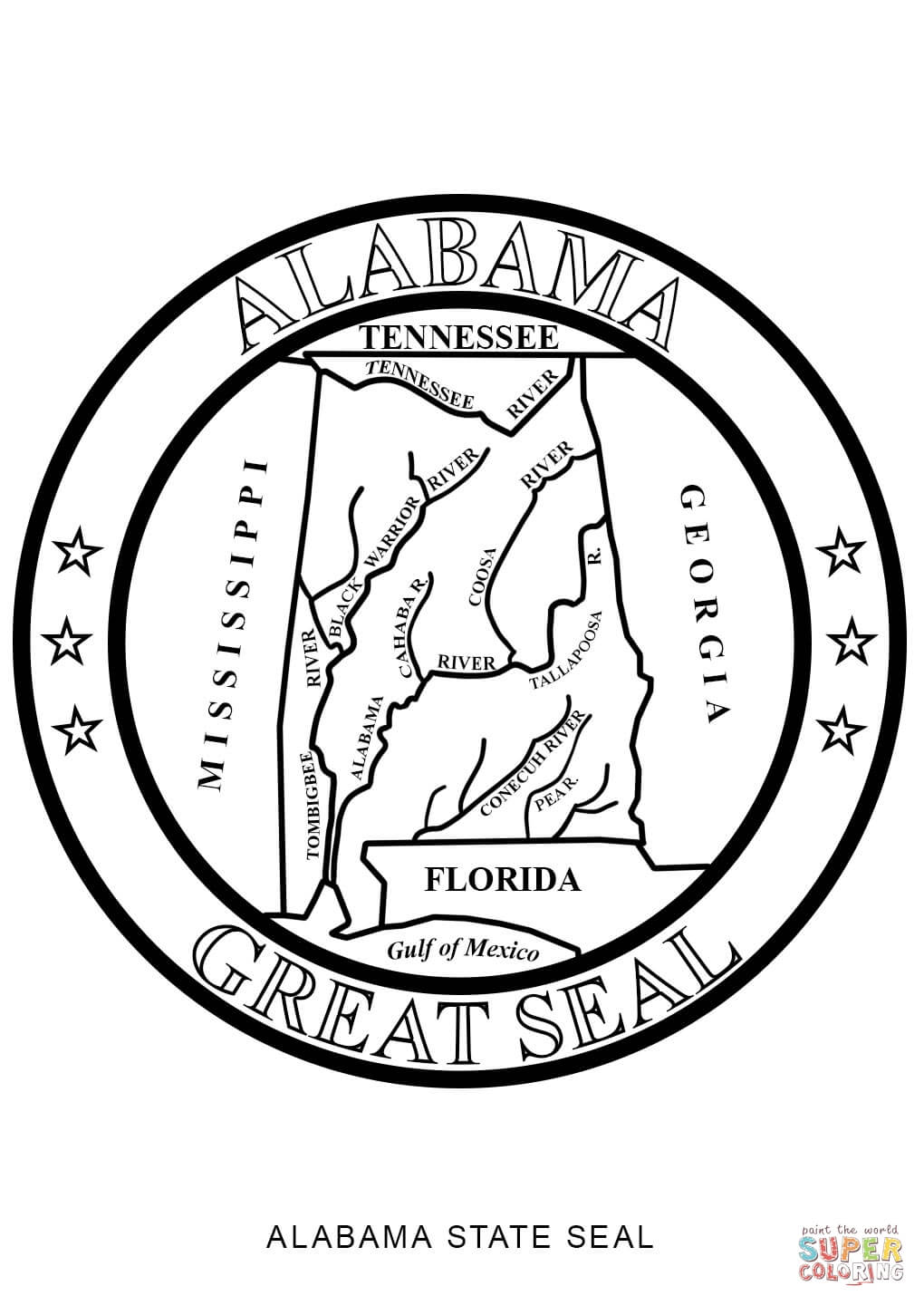1020x1440 alabama state seal coloring page free printable coloring pages