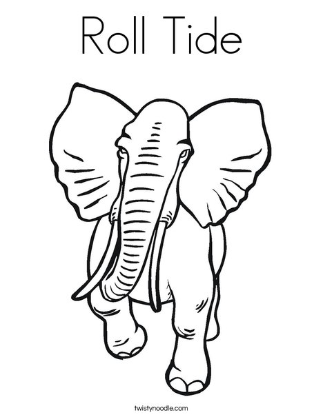 468x605 Roll Tide Coloring Page