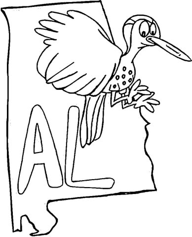 389x480 Alabama Map Coloring Page Free Printable Coloring Pages