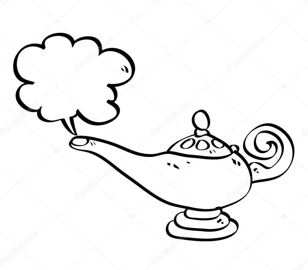 1024x896 Aladdin Lamp Drawing