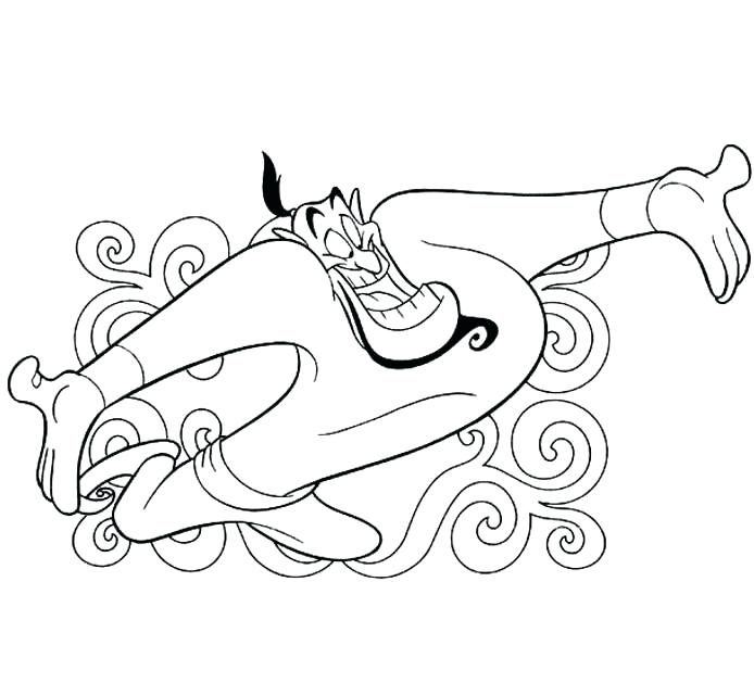 694x629 Awesome Aladdin Coloring Pages Online Found Magic Lamp Page