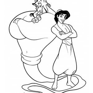 300x300 Abu Aladdin Found The Magic Lamp Coloring Page Abu