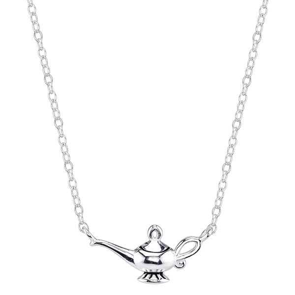 600x600 Disney Sterling Silver Aladdin Magic Lamp Necklace