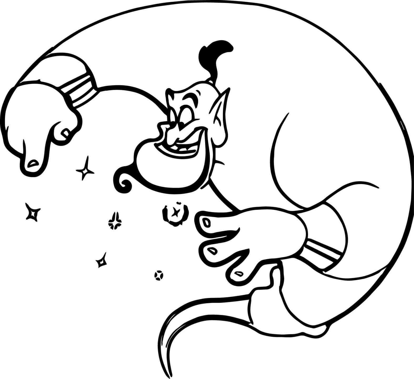 1574x1441 Aladdin Lamp Coloring Page