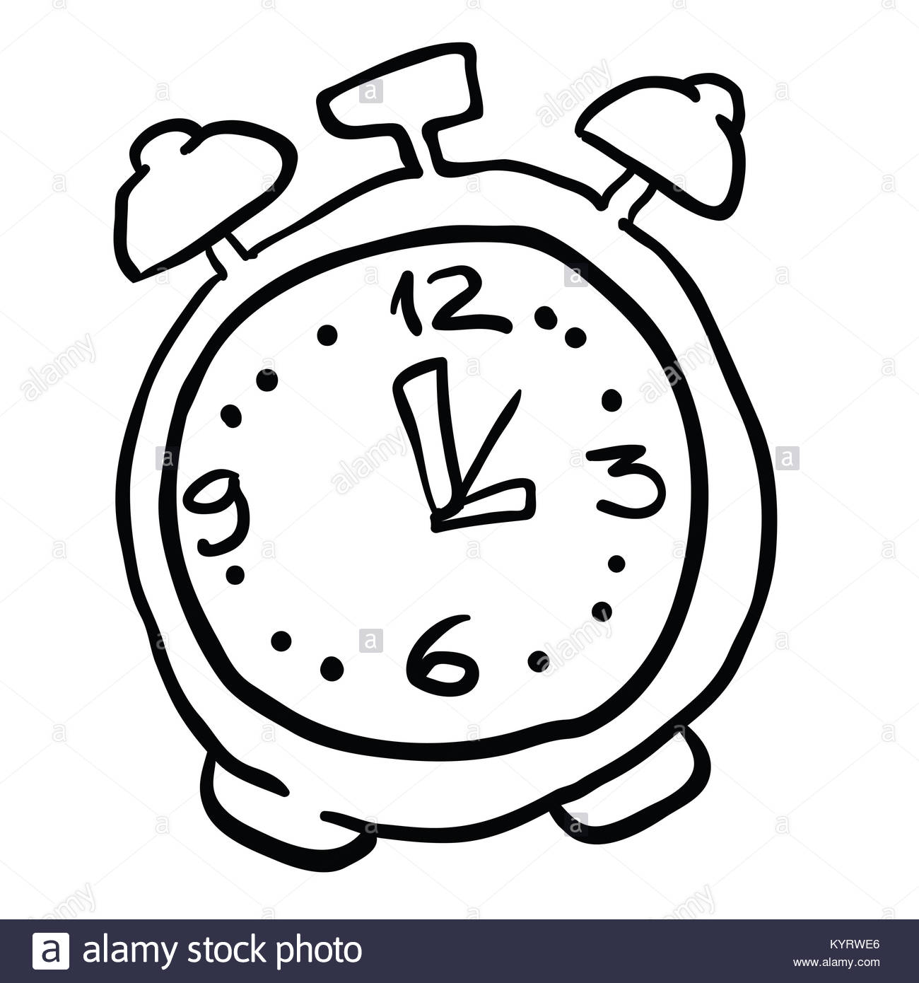 1300x1390 Alarm Clock Cartoon Illustration Cut Out Stock Images Amp Pictures
