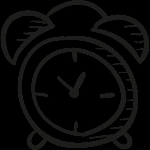 512x512 Draw Alarm Clock