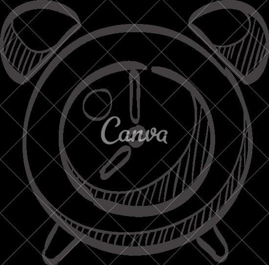 550x542 Sketch Icon Of Alarm Clock