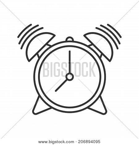 450x470 Alarm Clock Linear Icon. Time Wake Vector Amp Photo Bigstock