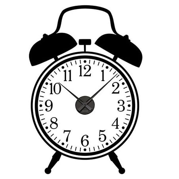 600x600 Alarm Clock Wall Sticker