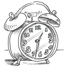 216x230 Drawing Of An Alarm Clock Unique Alarm Clock