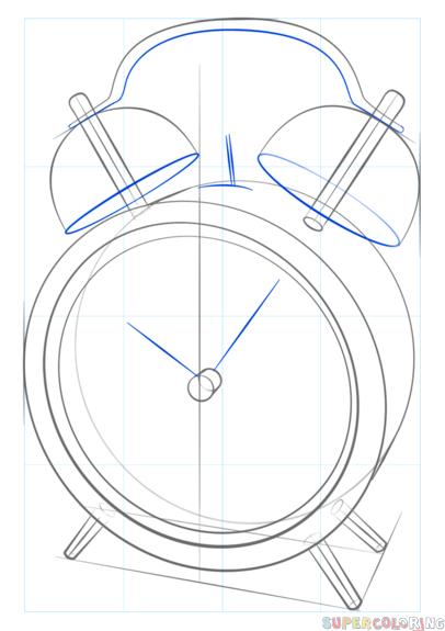 406x575 How To Draw An Alarm Clock Step By Step Drawing Tutorials