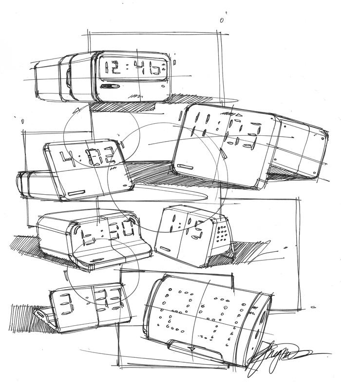 700x797 Sketch A Day 154 Alarm Clock Scribbles Sketch A Day Sketches