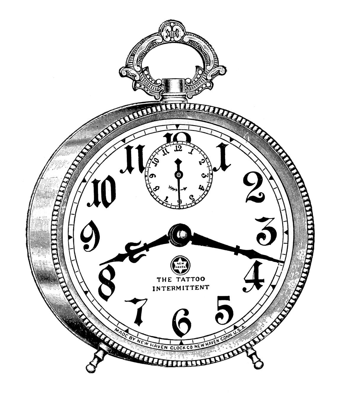 1163x1350 Vintage Clip Art Fancy Alarm Clock Steampunk Clip