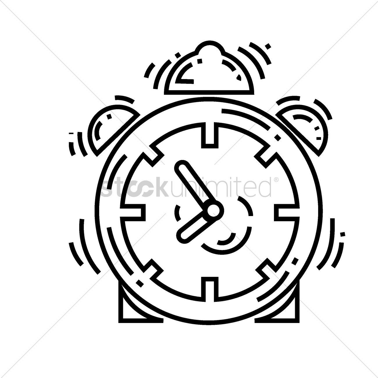 1300x1300 Alarm Clock Vector Image