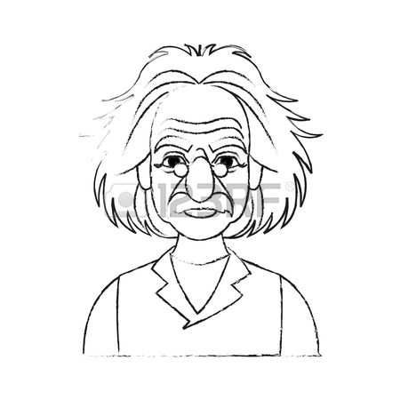 450x450 Albert Einstein Icon Image Sketch Line Vector Illustration Design