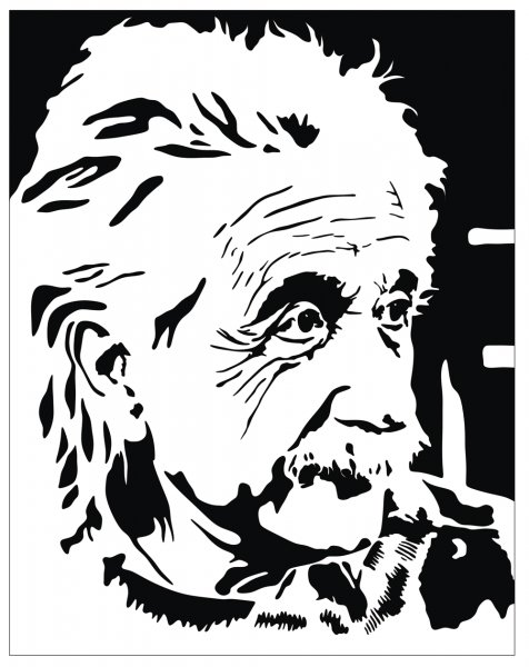 476x600 Albert Einstein Vector Potrait Free Vectors Amp Graphics