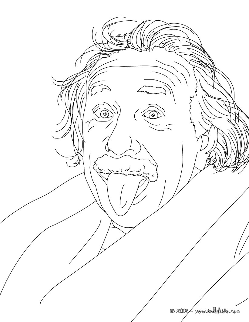 821x1061 Albert Einstein German Scientist And Nobel Laureate Coloring Pages
