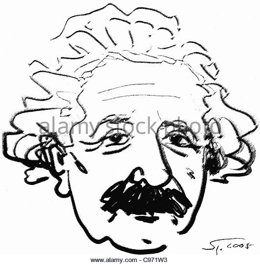 530x540 Portrait Albert Einstein Drawing Stock Photos Amp Portrait