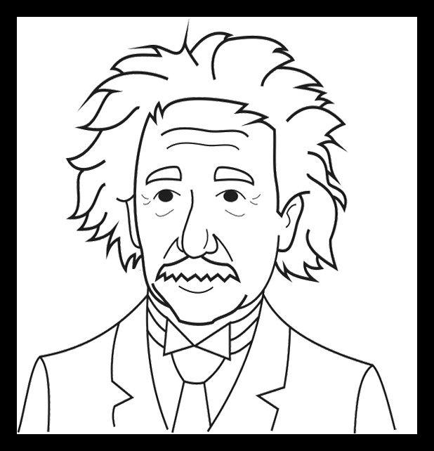 618x642 Albert Einstein Coloring Pages Albert Einstein Coloring Pages