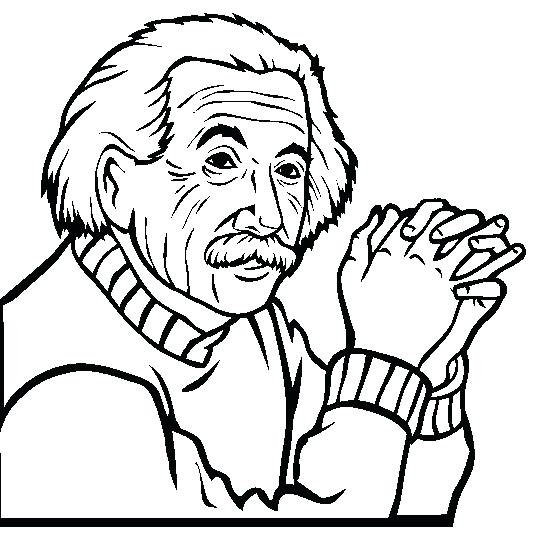 535x553 Albert Einstein Coloring Pages Coloring Page Albert Einstein
