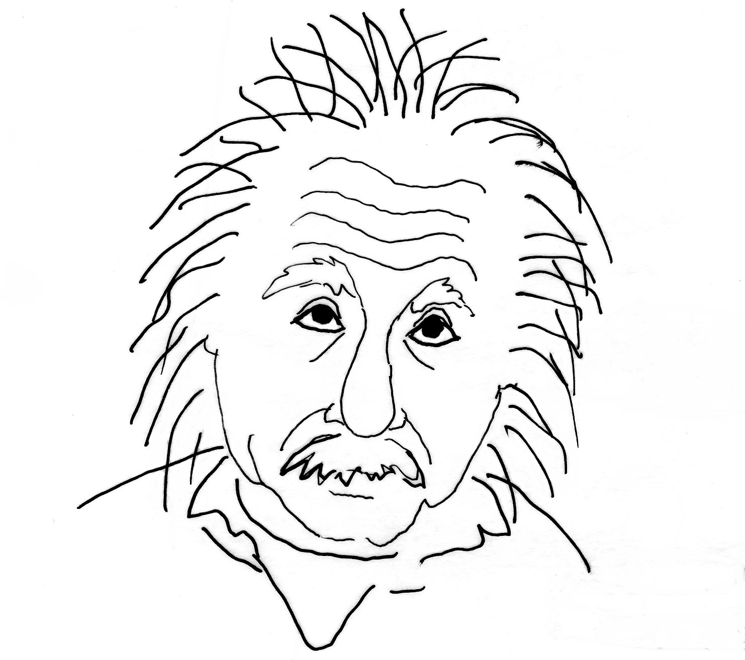 1482x1314 Albert Einstein Drawing