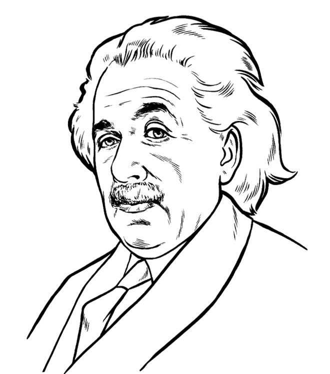 660x747 Face Albert Einstein Coloring Pages Kids Coloring Pages