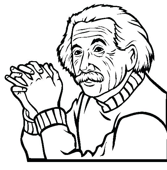 541x553 Albert Einstein Coloring Pages For Preschoolers