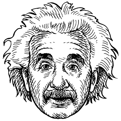 399x399 Einstein Drawing