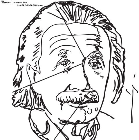 479x480 Einstein By Andy Warhol Coloring Page Free Printable Coloring Pages