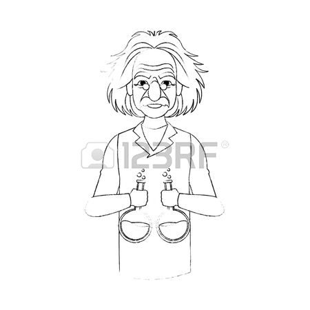 Albert Einstein Simple Drawing_