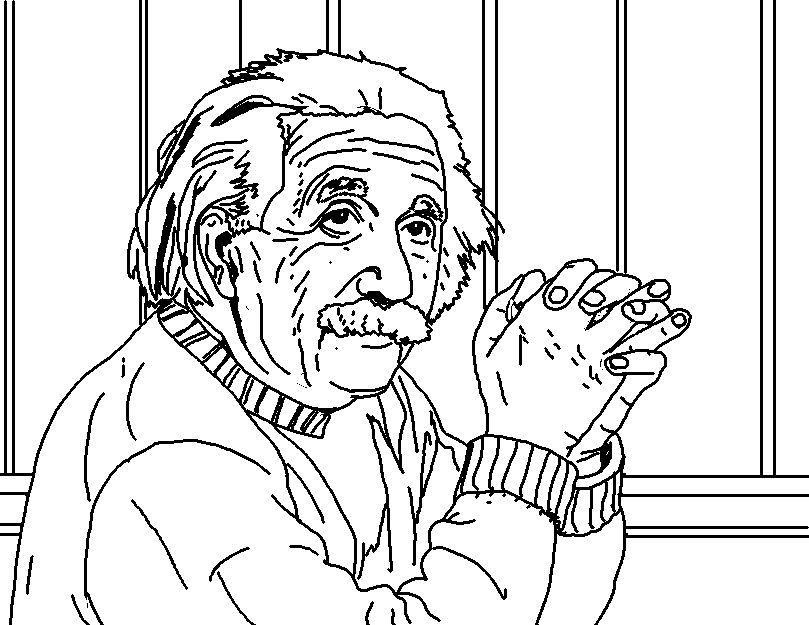 809x625 Coloring Page World Albert Einstein (Landscape) Free Coloring