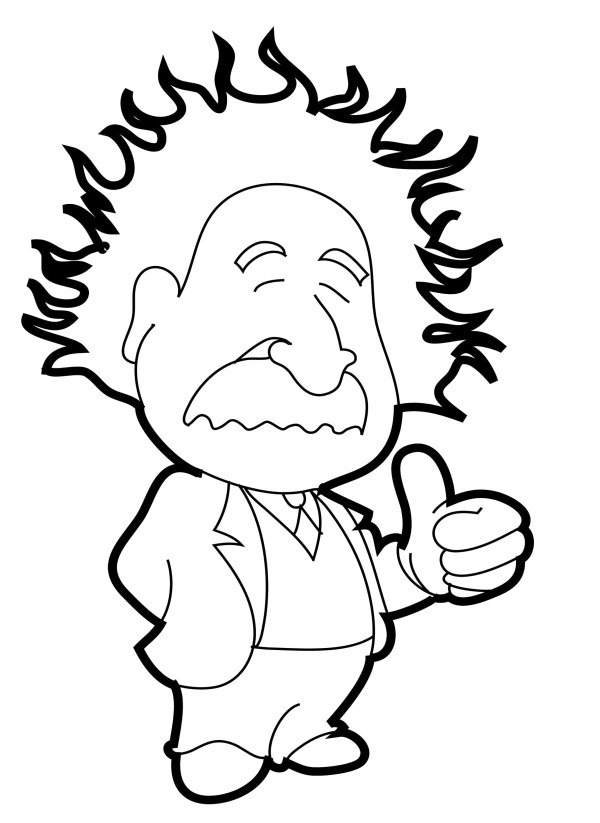 600x823 Pictures Albert Einstein Put Thumbs Up Coloring Pages Coloring