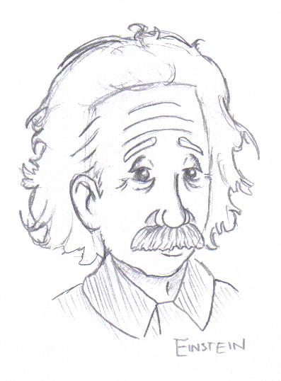 397x538 Albert Einstein Drawing Image Albert Einstein Cartoon Drawing