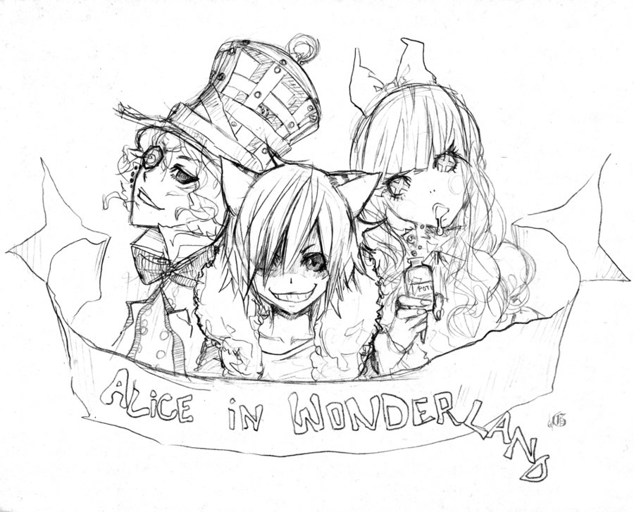 Alice And Wonderland Drawing