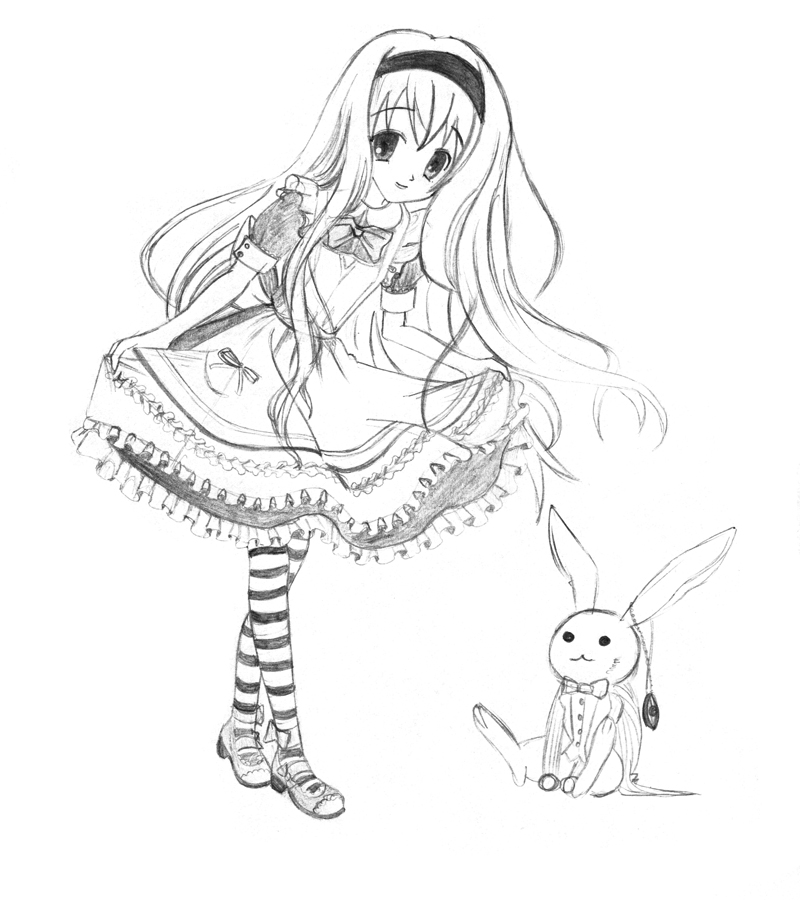 800x900 Alice In Wonderland By Fleeting Life