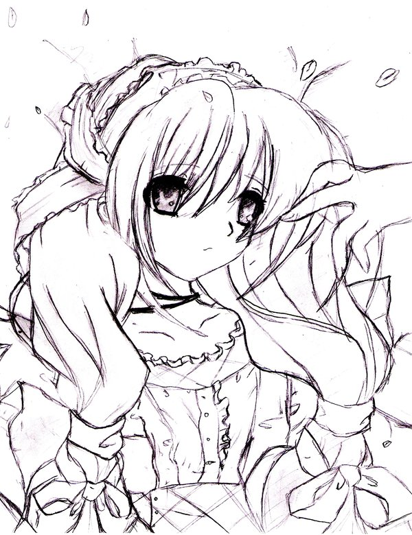 600x780 Anime Alice In Wonderland By 7474