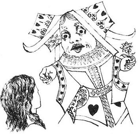 480x464 Alice's Illustrators And Tim Burton's Take On Wonderland Den Of Geek