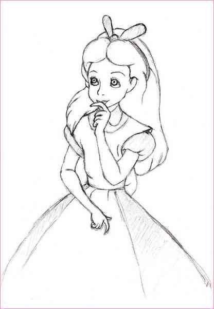 416x602 Alice In The Wonderland Drawings