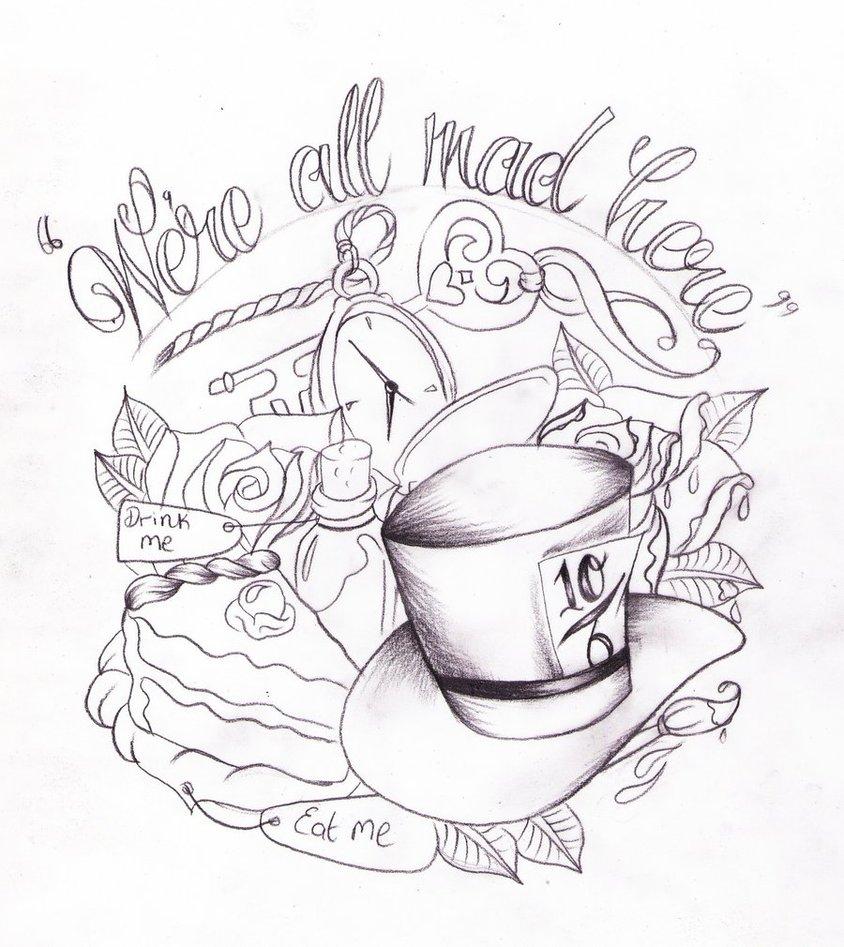 844x947 Alice In Wonderland Drawing Ideas Alice In Wonderland Tat Sketch