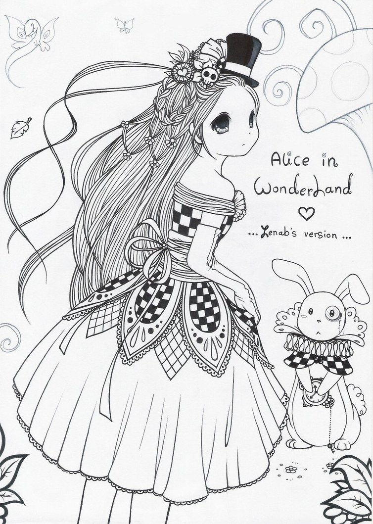754x1059 Alice In Wonderland 2 By Zenab Tareef
