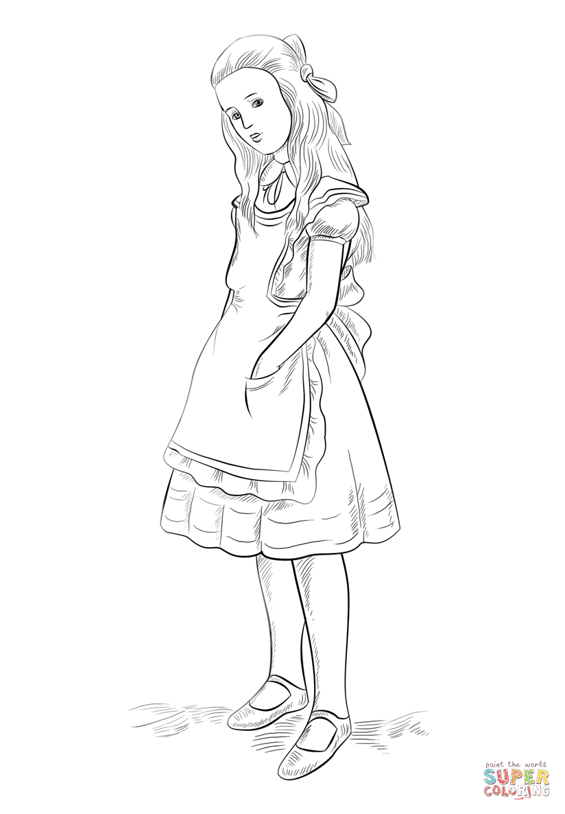 824x1186 Alice In Wonderland Coloring Page Free Printable Coloring Pages