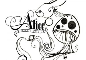 Alice In The Wonderland Drawing