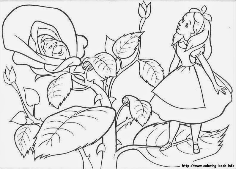 794x567 Kat's Almost Purrfect Home Alice In Wonderland Images Coloring Pages