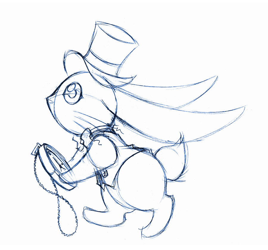 900x841 The White Rabbit Alice In Wonderland Drawing