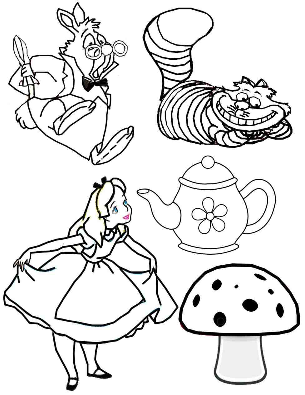 977x1264 How To Draw Alice From Disney Alice In Wonderland Cute Step By