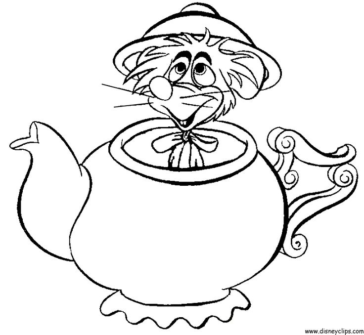 736x678 Alice In Wonderland Characters Coloring Pages